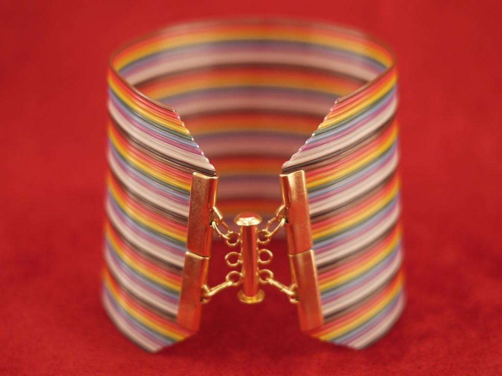 """2 1/2"""" wide ribbon wire cuff"""
