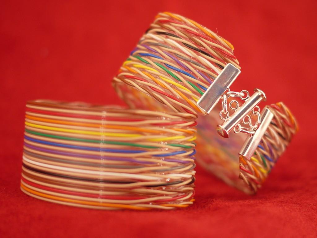 "1 1/4"" twisted pair ribbon bracelet"