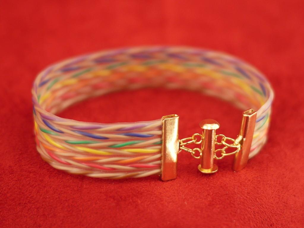 "3/4"" wide twisted pair bracelet"