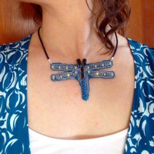 Cerulean Dragonfly blinking