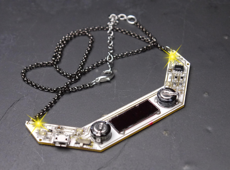 blinky led chevron necklace lumen electronic jewelry