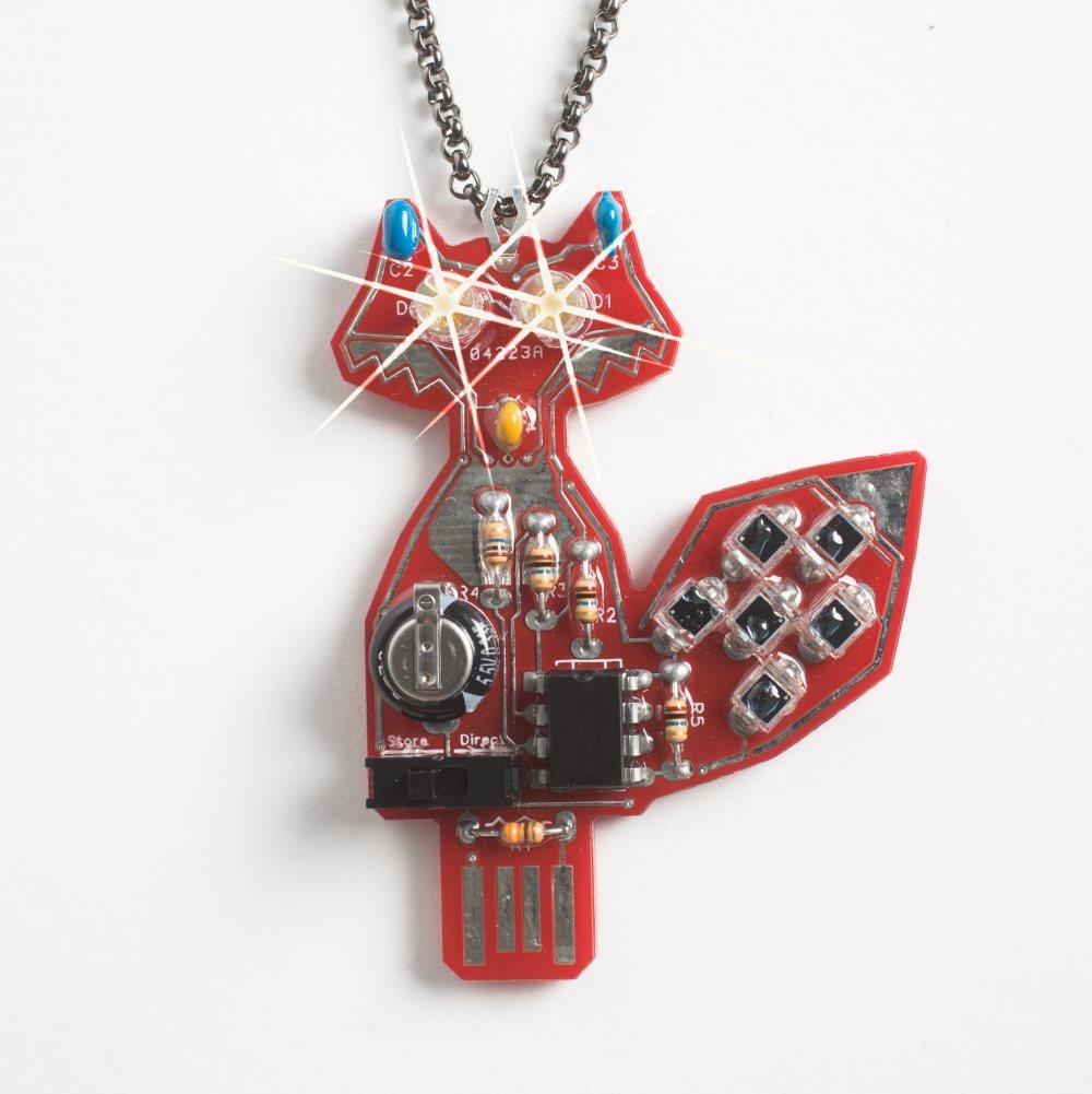 intermediate led fox soldering kit lumen electronic